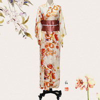 Stage Performance Clothing Women Traditional Japanese Kimono Novelty Lady Evening Gowns One Size Print Floral Cosplay Costume