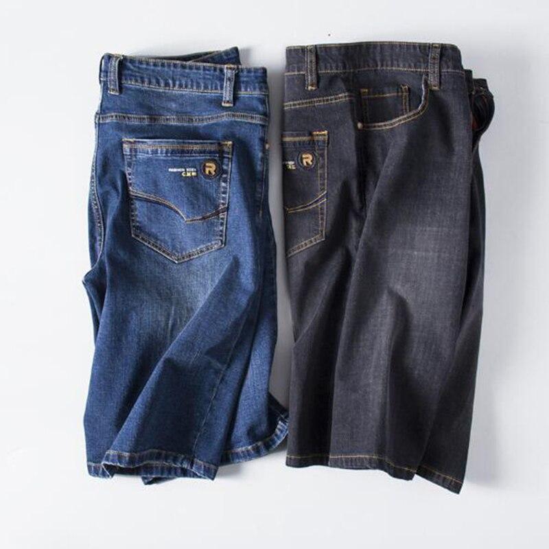 2018 여름 패션 브랜드 큰 사이즈 남성 짧은 청바지 블랙 남성 데님 반바지 남성 플러스 사이즈 5XL 6XL 40 42 44 48