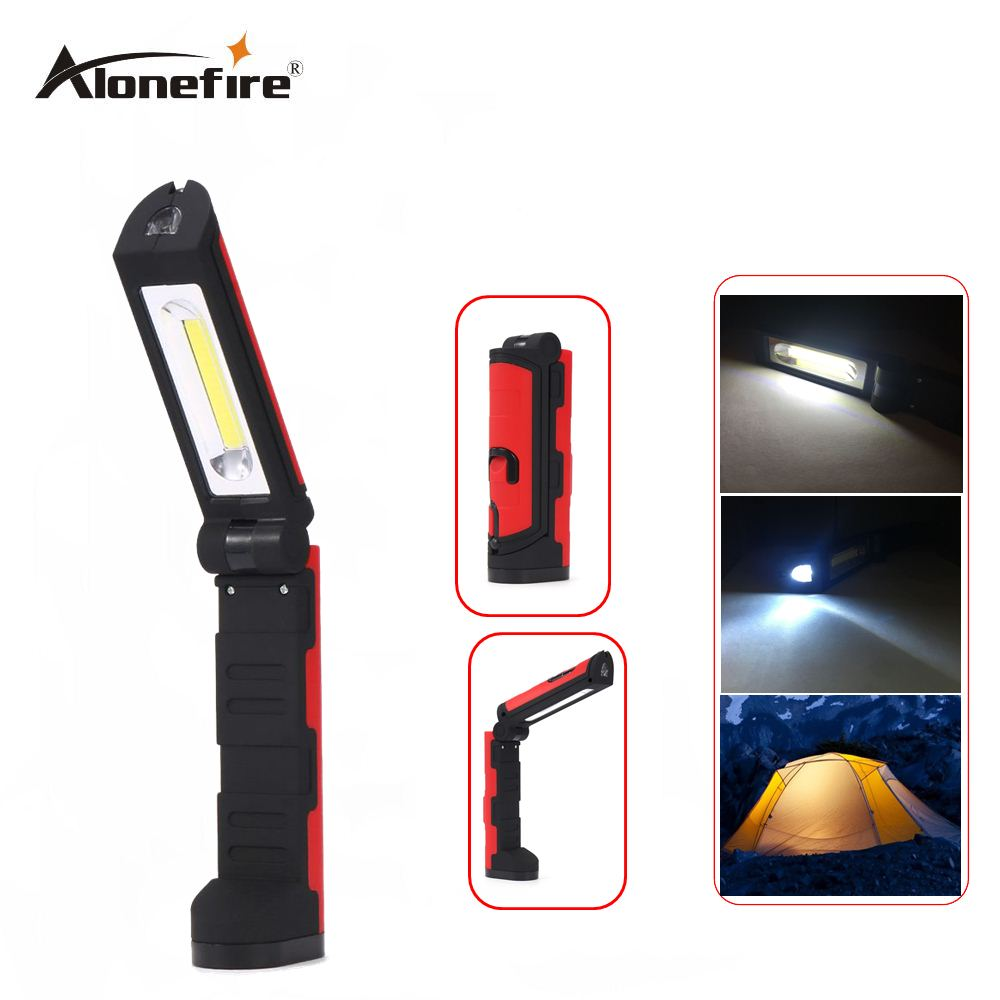 AloneFire C026 COB LED Flashlight Camping Work Light with 90 Degree COB Outdoor Camping Light Magnetic Hanging Hook Lamp led hook light magnetic flashlight perfect torch work lamp with magnet and 2 light modes camping outdoor sport drop clh