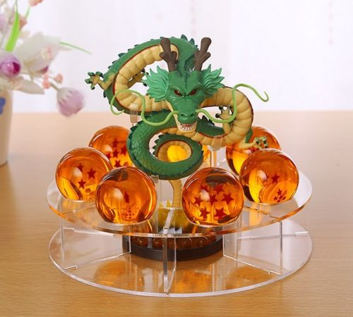 Comic Dragonball Z Shenron+7pcs Star Crystal Ball+Display Stand Toy Figure Gift Anime Figure Collectible Model Toy