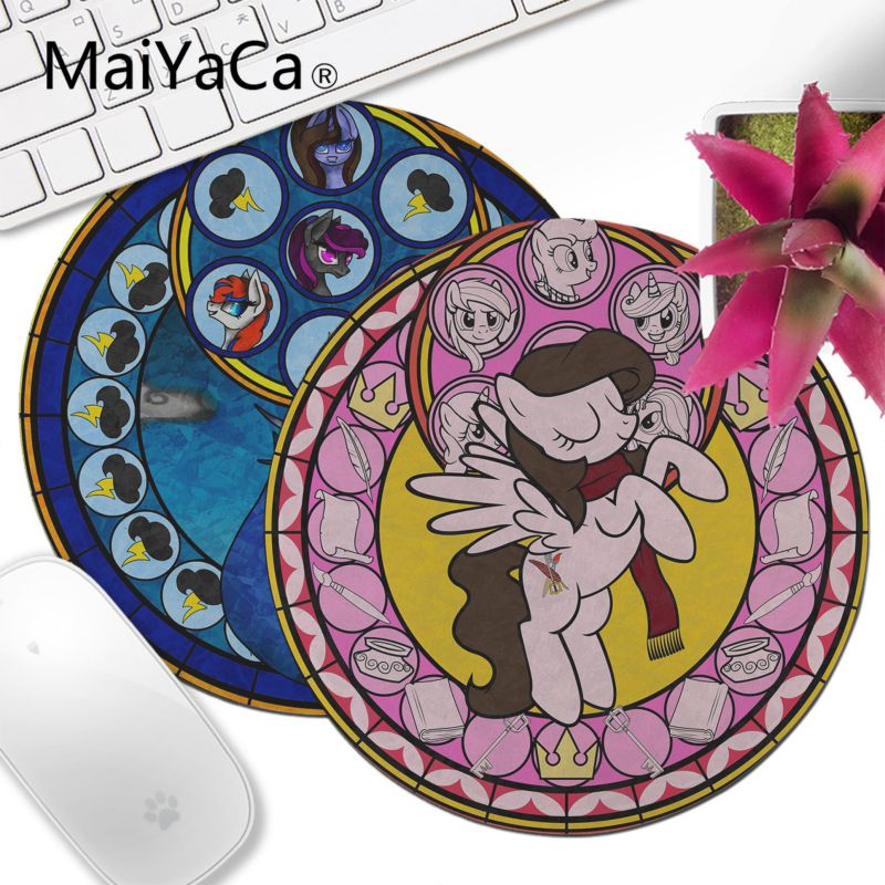 MaiYaCa Top Quality Beautiful Anime fairy tale stained glass unicorn Laptop Gaming Lockedge Mice Mousepad Customized MousePads