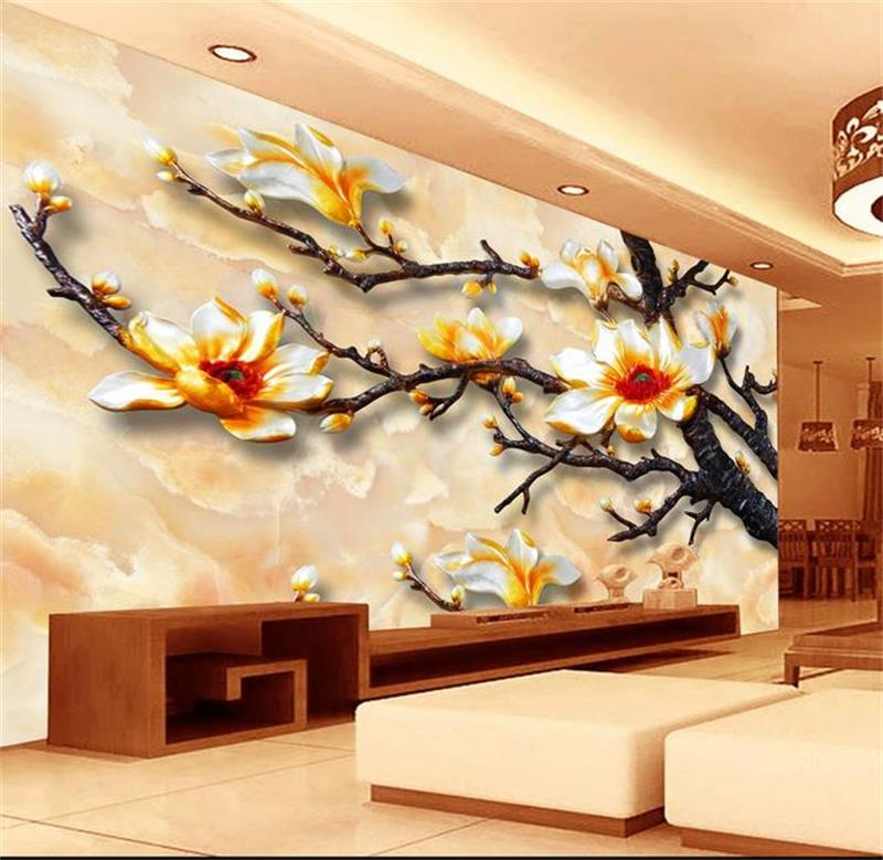 ᗑ3d room wallpaper custom mural non-woven wall sticker 3d Branch 3D ...