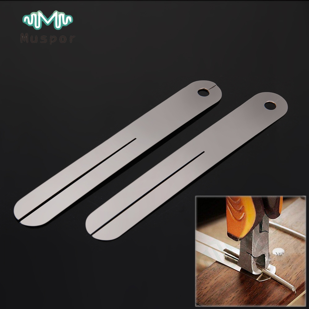 2pcs Fret Puller FretBoard Fingerboard Fret Repair Tool Protector Steel Plate for Electric guitar and Bass