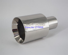 Universal ID:63mm OD:114mm Racing Car Exhaust Tip Muffler End Pipe Double-Layer Flat Car Muffler Tip Exhaust Pipe Tip