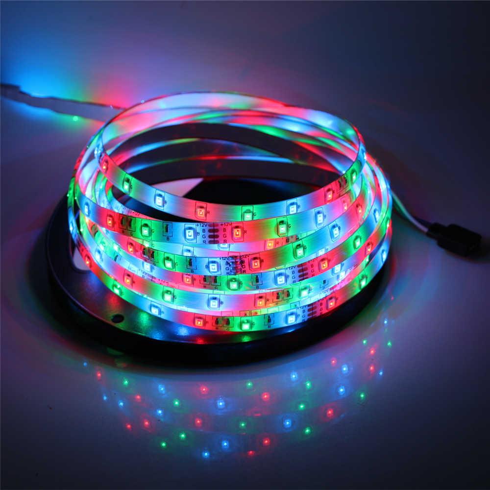 Image 5 - 2835 SMD led strip light DC12V 5M 300LEDs flexible ribbon tape lighting White Warm white Red Green Blue Yellow Pink RGB-in LED Strips from Lights & Lighting