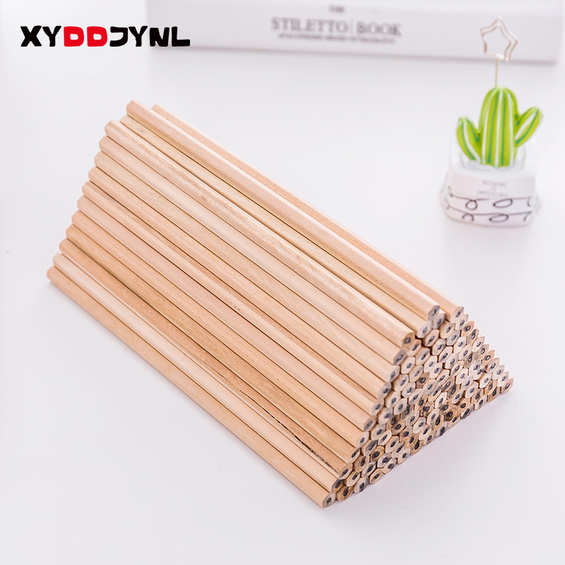 10pcs HB Wood Pencils Sketching Pencil Black Core Crude Wood Nontoxic Kids Pencil School Stationery Office Supply