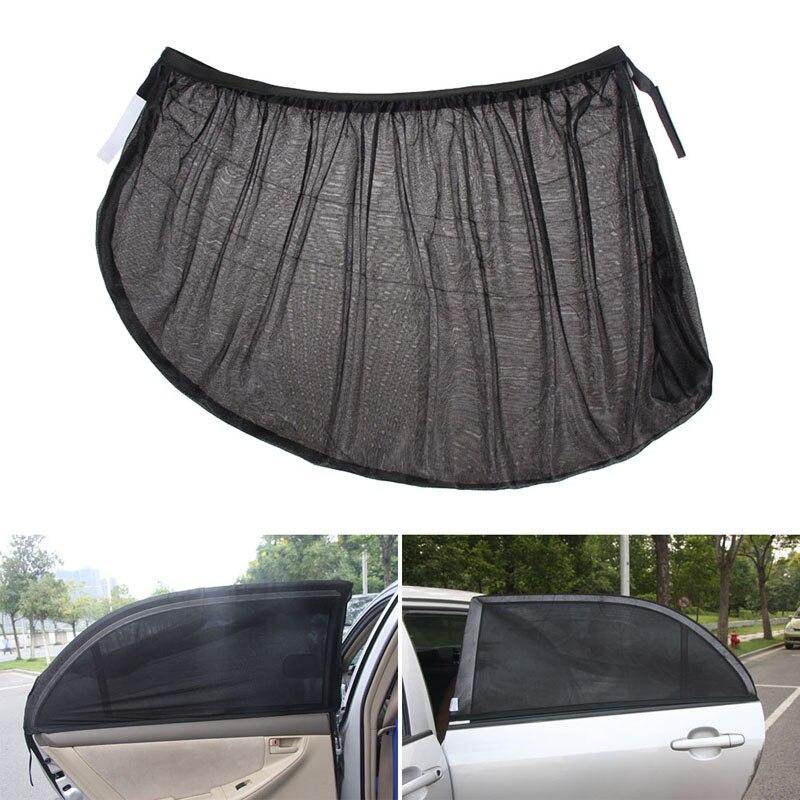 Youwinme Adjustable Black Mesh Car Side Rear Window Sun Shade Auto Abat Vent Cover Visor Shield Sunshade UV Curtain Protection