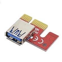 Расширенный стояка адаптер USB 3.0 pci-e 1X к 16X Графика расширение Добыча Кабель удлинитель кабеля pci-e EXT 2017 Перевозка груза падения 1 шт.