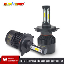 H1 светодиодный фар автомобиля H4 H7 H11 H8 H9 H3 H13 9005/HB3 9006/HB4 9007 881 из 2 предметов светодиодный лампы для автомобилей противотуманные фонари 6500 k супер яркий