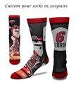 Hombre venta al por mayor de baloncesto de encargo 3D sublimación de impresión elite sport calcetines