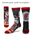 men wholesale custom basketball 3D sublimation printing elite sport socks