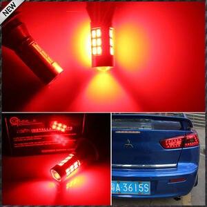 Image 5 - 2pcs 21 SMD לבן/אדום כפול צבע 7440 7444 T20 LED החלפת נורות לרכב גיבוי הפוך אורות & אחורי ערפל מנורת המרה