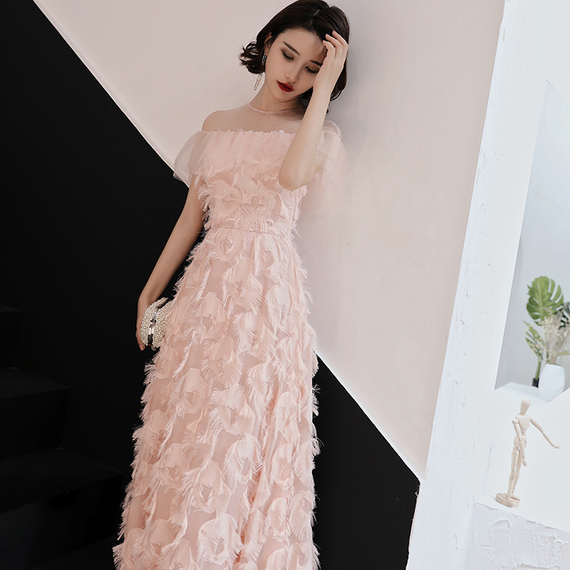Dress   For Dancing A Line   Prom     Dresses   2019 Long Evening Gowns Tassel Latin Formal party   Dress   Rhinestone Feather Robe De Soiree