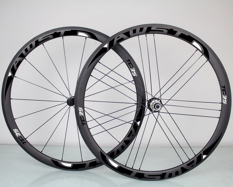 38mm Awst Wheels 50m Carbon Road Wheels Rear Matte Carbon Clincher