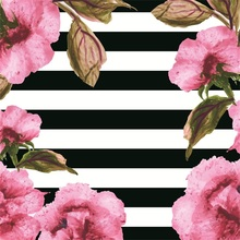 Laeacco Flowers White Black Stripes Portrait Photography Backgrounds Customized Photographic Backdrops For Photo Studio