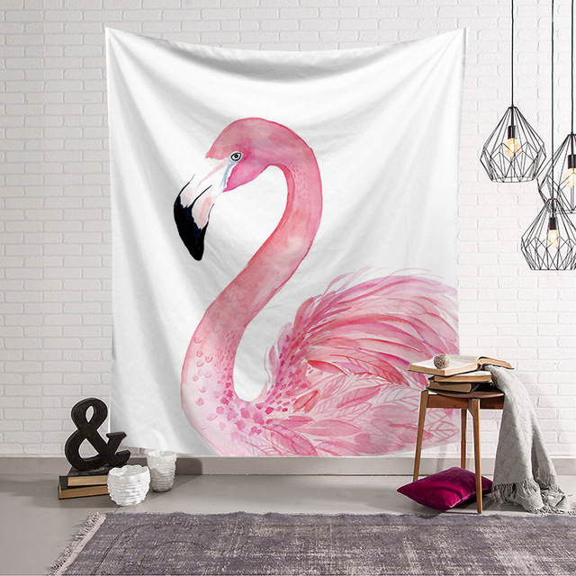 CAMMITEVER Hot Selling Pink Flamingo Wall Decoration Tapestry ...