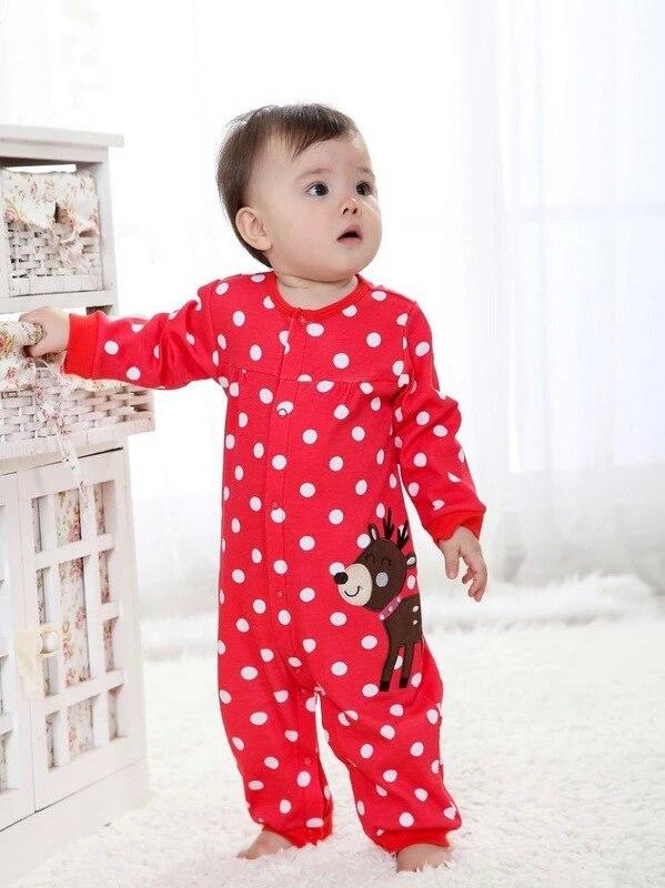 2018 Ny vinter fleece baby tøj baby piger lange ærmer bodysuit baby dreng jumpsuit 9 farver 1 stk Freeshipping HB002