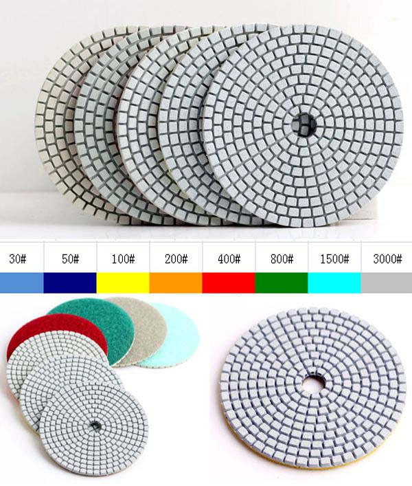 30# Dry 4(100mm) with 2.5mm  flexible diamond dry polishing pads marble polishing hand pads30# Dry 4(100mm) with 2.5mm  flexible diamond dry polishing pads marble polishing hand pads
