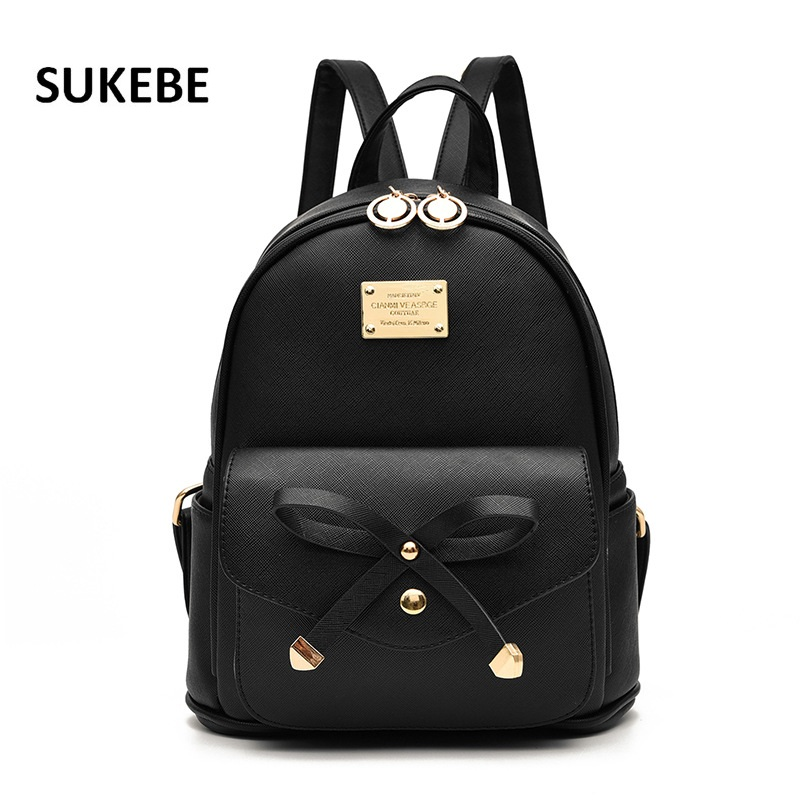 2018 New Women Backpack Pu Leather Lady Fashion Backbags