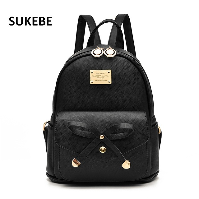 2018 New Women Backpack Pu Leather Lady Fashion Backbags Cute School Bags For Ager S Packbag