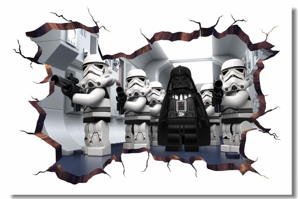 Custom Canvas Wall Mural Lego Star Wars Poster Lego Movie ...