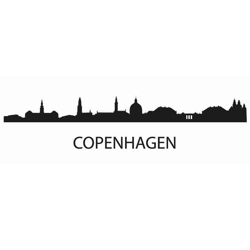 DCTAL COPENHAGEN City Decal Landmark Skyline Wall Stickers