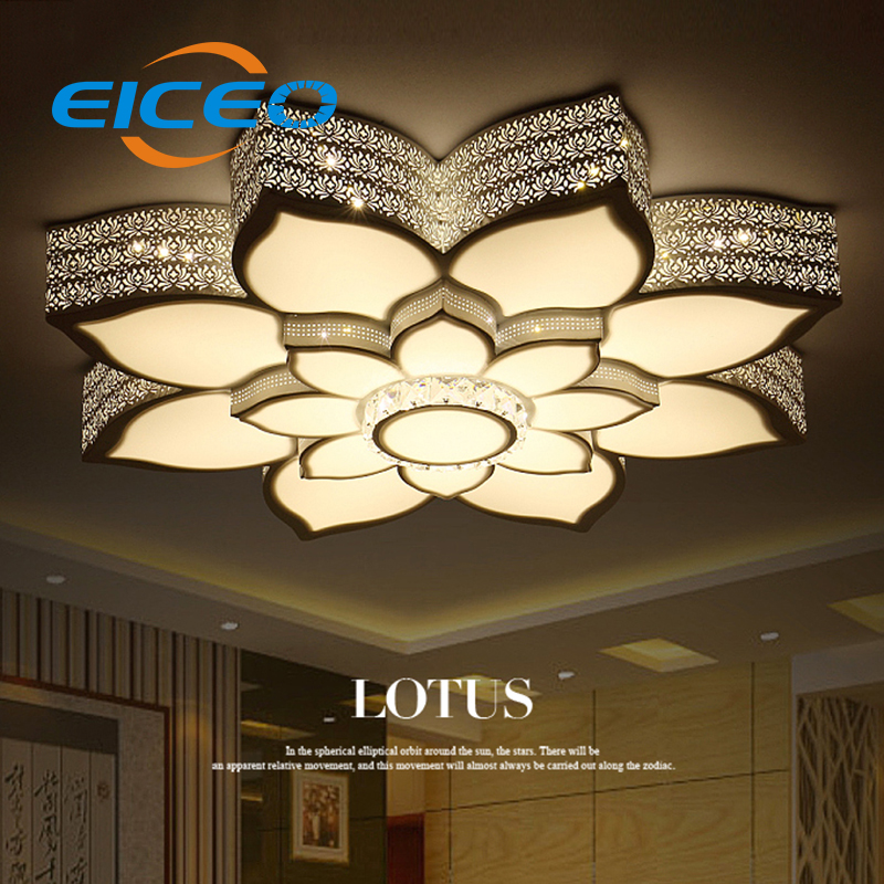 (ECIEC) Modern Minimalist LED Ceiling Light Circular Living Room Lamp Personalized Flower Shaped Bedroom Lamps Lights Dimmer