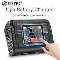 HTRC T240 DUO RC chargeur AC 150W DC 240W écran tactile double canal Balance déchargeur pour RC modèles jouets batterie Lipo