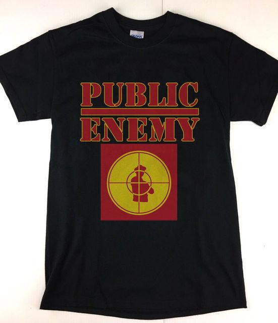28c870ba Vtg 90's Public Enemy T-Shirt Crosshairs Black HipHop Rap T Screen Stars  Reprint Hot