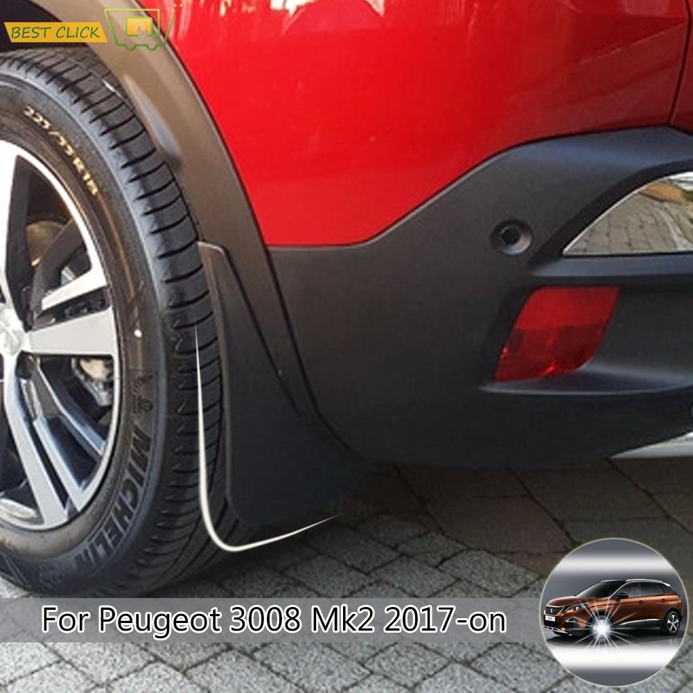 OE Style Mudguards For Peugeot 2008 2013-2017 Splash Guards Mud Flaps Mudflaps