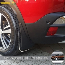 Брызговики для передних и задних автомобилей, брызговики для Peugeot 3008 2 SUV 2017 года 2018 2019, брызговики, брызговики, крыло брызговиков