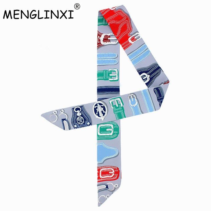 2020 New Design Watch Strap Print Silk Scarf Women Luxury Brand Scarf Bag Ribbons Fashion Head Scarf Small Long Scarves C45
