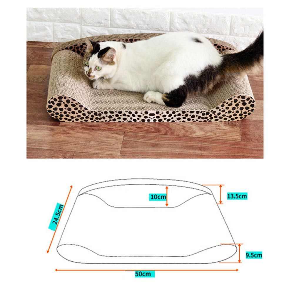 Lujosa almohadilla de tablero de rasguños para mascotas gato cómodo gato gatito sofá cama gatos garra cuidado juguetes moler uñas rascador colchón