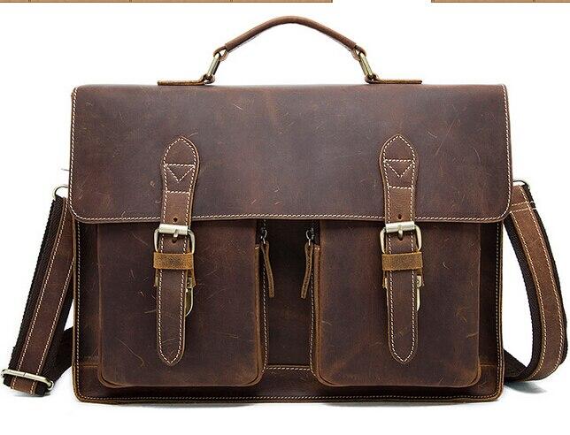 Vintage leather handbag aslant package free shipping