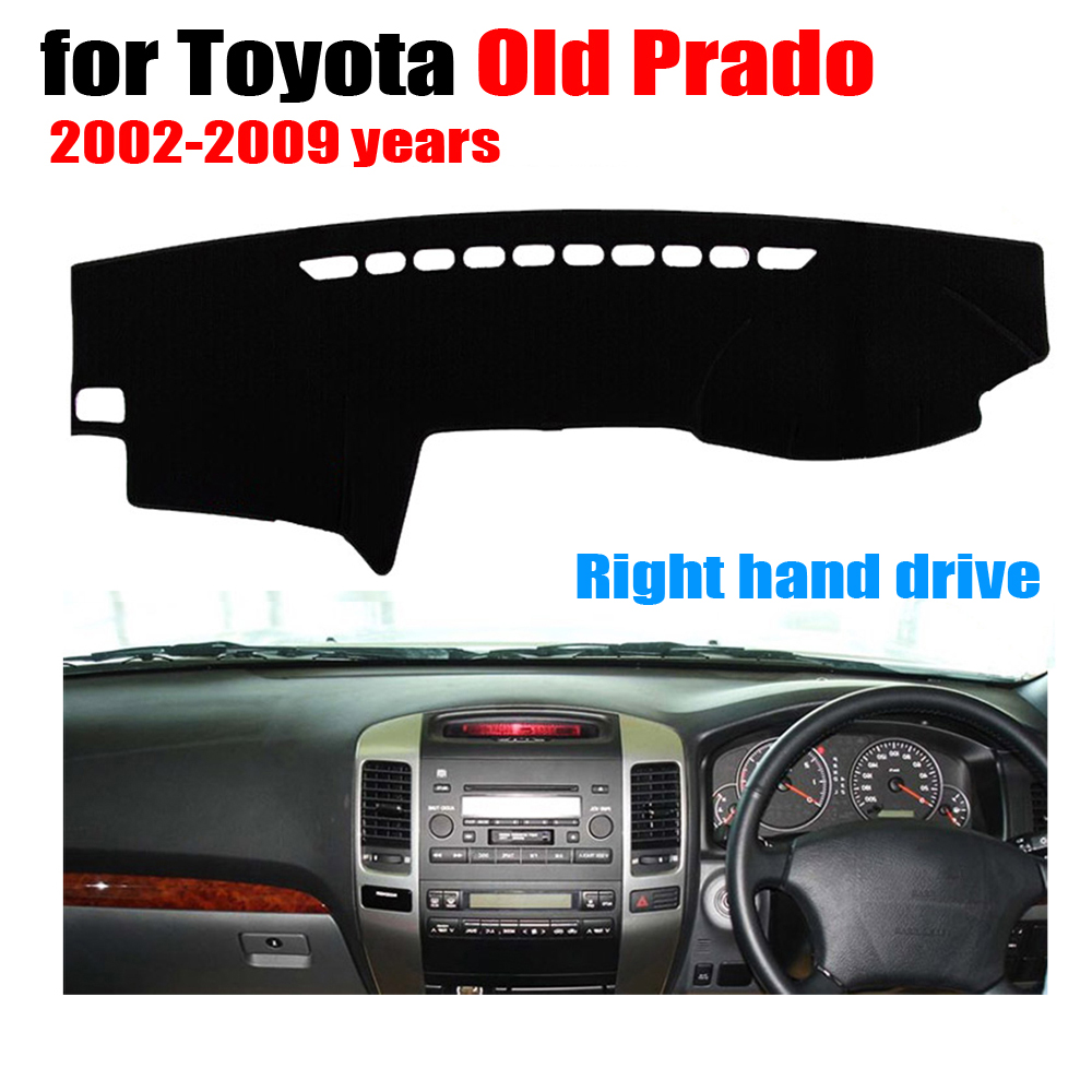 Car dashboard cover mat for TOYOTA Old PRADO 2002-2009 years Right hand drive dashmat pad dash mat covers dashboard accessories dashmat original dashboard cover buick skyhawk