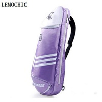 LEMOCHIC High outdoor waterproof Professional Racquet sports bag fitness gym badminton Cycling tennis brand canvas backpack