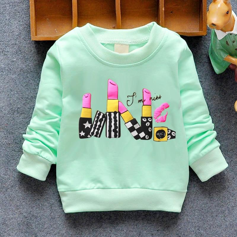 2020 Baby Girls Sweatshirts Winter Spring Autumn Blouses Children Hoodies 6 Cats Long Sleeves Sweater Kids T-shirt Jacket