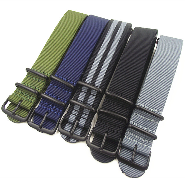 Black buckle 1PCS High quality 22MM Nylon Watch band NATO straps waterproof watch strap 5 colors available motorcycle brake clutch levers 22mm handle bar handlebar grips ends for yamaha fz1 fazer fz6r fz8 xj6 fz6 mt 07 09 fz 09 mt09
