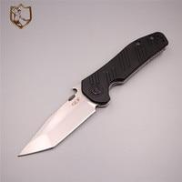 Tool Sharpener Tactical Knife Survival Hunting Titanium Folding Stonewash Blade Pocket Stainless Steel Knife Cutting G10