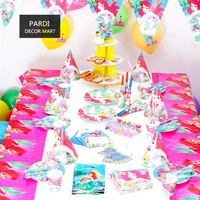 Kids party decoration Mermaid birthday party decoration birth party supplies 1set/lot