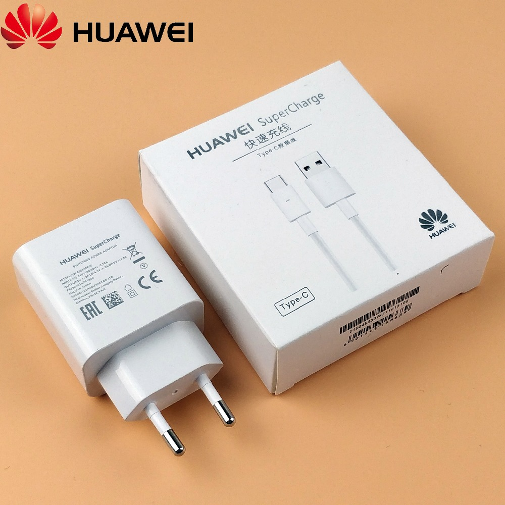 Original Huawei Honor 10 SuperCharger Usb Type-C 4.5A Quick Fast SuperCharge power Adapter For Mate 9 Pro 10 P20 Smartphone