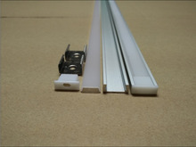Free shipping Hot Sale slim size channel aluminum profile for 5050 led strip,milky/transparent cover 1m/pcs 10m/lot