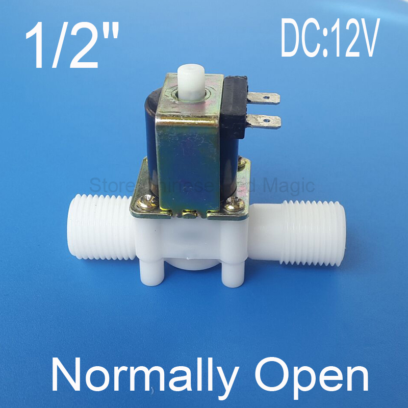 Normally Open Type 1/2 Solenoid Valve Electric Magnetic N/O Water Control Diverter DC12V DC24V OptionalNormally Open Type 1/2 Solenoid Valve Electric Magnetic N/O Water Control Diverter DC12V DC24V Optional