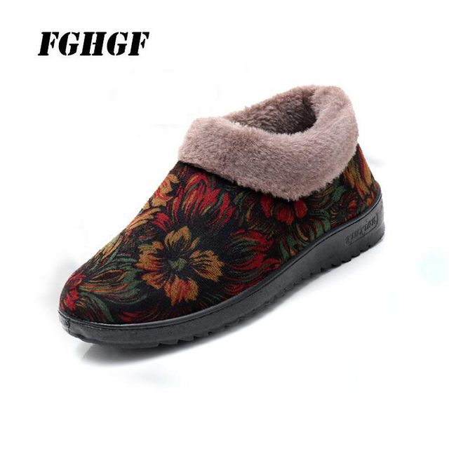 Winter old Beijing cotton shoes senior women s cotton shoes anti-slippery  and warm velvet one foot pedal granny s shoes e24923dfc783