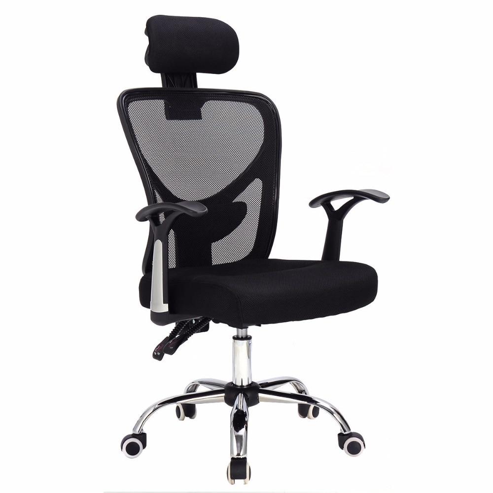 Goplus Ergonomic Mesh Office Chair Modern 360 Degree Swivel Armchair Black Blue Home Lift Chairs with Headrest Furniture HW56004 нивелир ada cube 2 360 home edition a00448