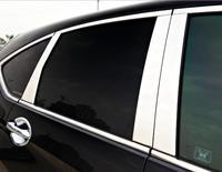 Stainless Steel Window Trims Center Pillars Stickers Trim Cover Exterior Body Decora For Honda CR V CR V 2012 2015 Car Styling