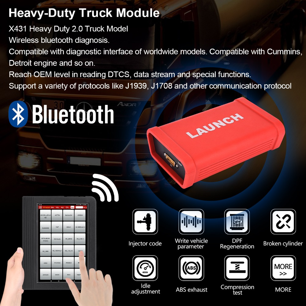 LAUNCH HD2 0 Heavy Duty Truck Module with X431 X 431 V+