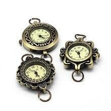 10 sztuk zegarek ze stopu metali zegarek głowa zegarek komponentów, mieszany styl w sposób losowy, antyczny brąz, 27 ~ 32x28 ~ 34x7 ~ 8mm, otwór: 6 ~ 7mm