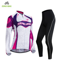 ZEROBIKE Spring Autumn Long Sleeves Cycling Set Women's Mountain Bike Clothing Breathable Bicycle Jerseys Clothes Ropa Ciclismo