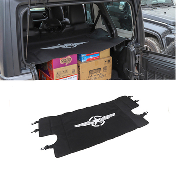 for Jeep Wrangler JL 2018 2019 Car Luggage Carrier Trunk Curtain Cover Car Interior Accessories Decoration Stickers Black 1pcs